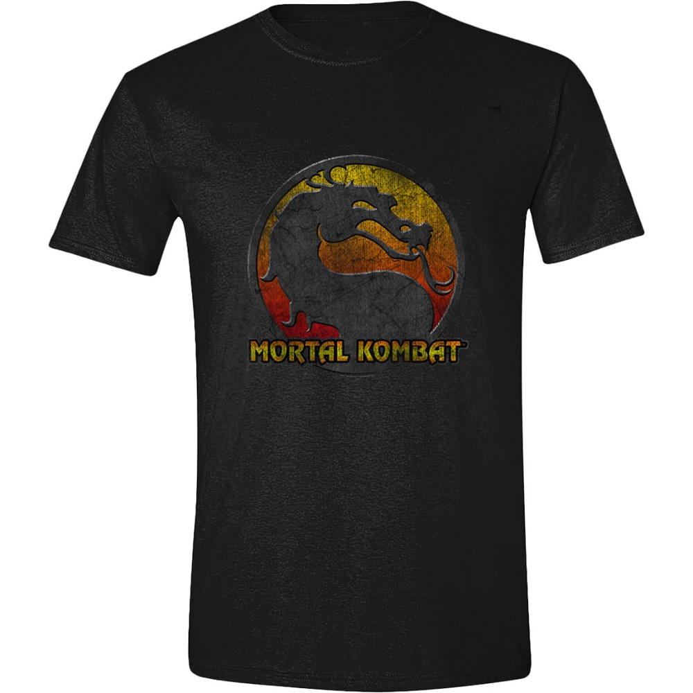 Mortal Kombat Retro Distressed Logo