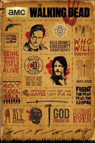 Poster Walking Dead Infographic X