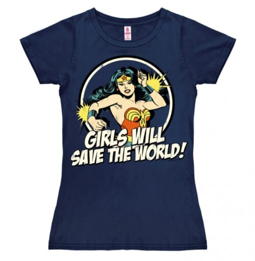 DC Comics Wonderwoman Girls Will Save The World (Girly)