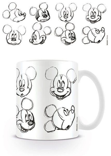 Mok Disney Mickey Mouse Sketch Faces X