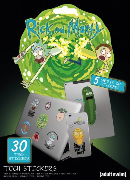 Tech Stickers Rick And Morty X