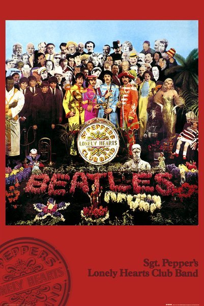 Poster The Beatles Sgt Pepper X