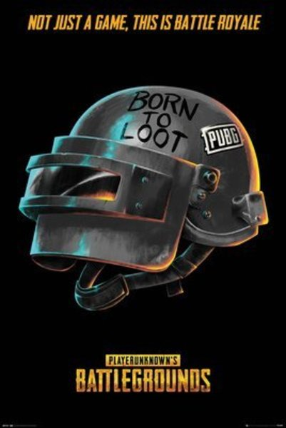 Poster PUBG Born To Loot X