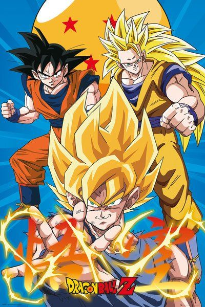 Poster Dragon Ball Z 3 Gokus Evo X