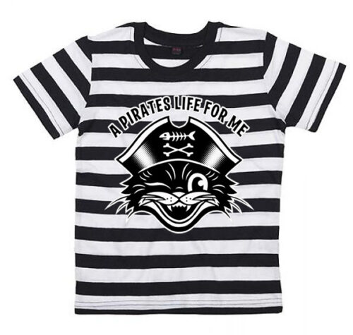 Claudia Hek Pirates Stripy Tee Kids