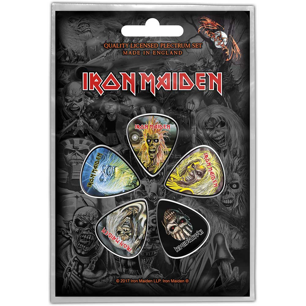 Plectrums Iron Maiden The Faces Of Eddie