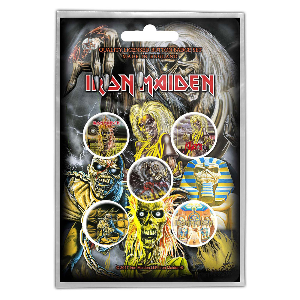 Buttons Iron Maiden Early Albums