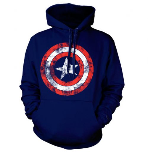 Marvel Captain America Distressed Shield Hoodie
