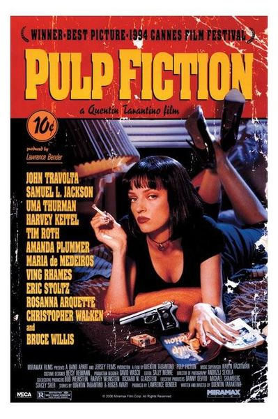 Pulp Fiction Movie Poster X