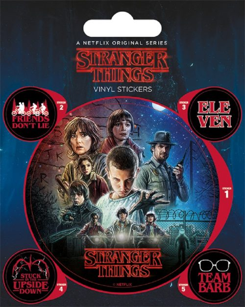 Stranger Things One Sheet Vinyl Stickers