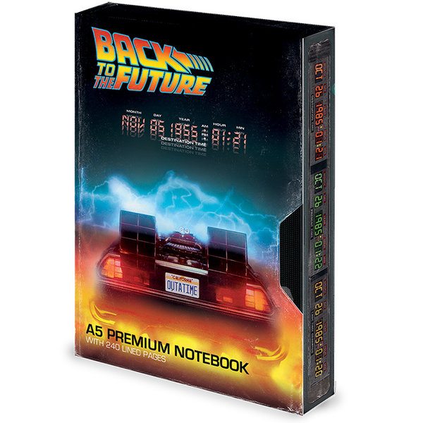Notitieboek A5 Premium Back To The Future VHS X