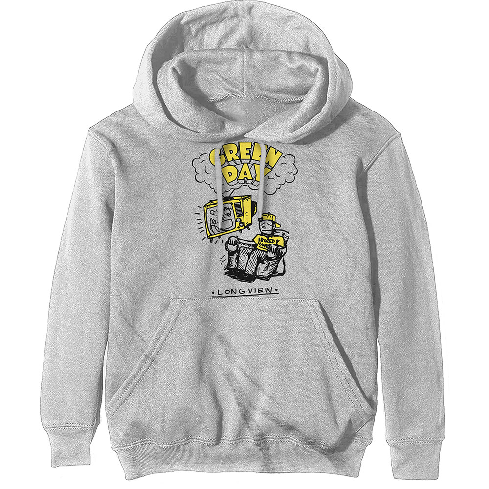 Green Day Pullover Hoodie Longview Doodle
