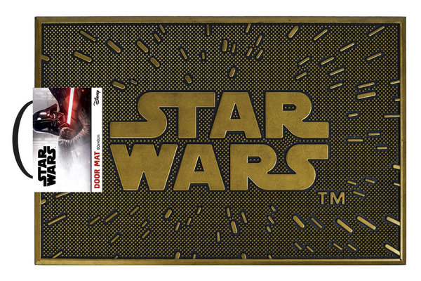 Rubber Deurmat Star Wars Logo X